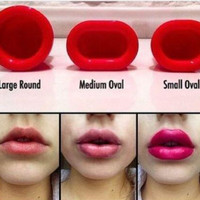 New Lip Plumper Sexy Full Natural Red Lips Plump Lip Enhancer Round Oval Gift