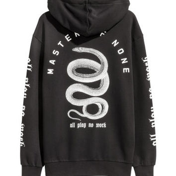 H&M Printed Hooded Sweatshirt $29.99