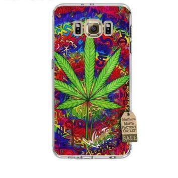 Abstractionism Art Weed Phone Cases for Samsung Galaxy