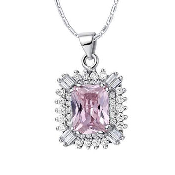 925 Accessories Gemstone Silver Necklace = 5839679233