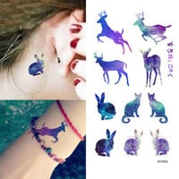 5pcs Waterproof Temporary Arm Tattoos Elk Tattoo Sticker Removable Body Art