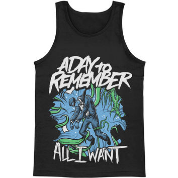 A Day To Remember Men's  All I Want Mens Tank Black Rockabilia