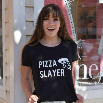 Pizza Slayer Women T-shirt - Novelty Tee