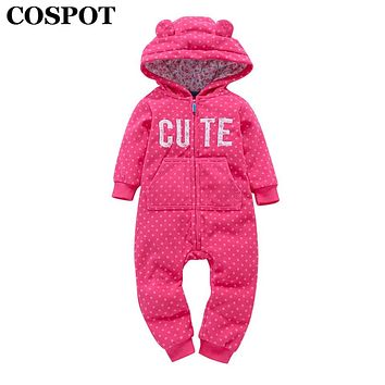 COSPOT 2018 New Baby Girls Jumpsuit Cartoon Romper For Newborns Long-sleeved Children Clothing for Boys Cotton Overall Sets 40E