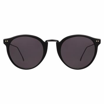 Illesteva Portofino II 51mm Matte Black Sunglasses / Black Lenses