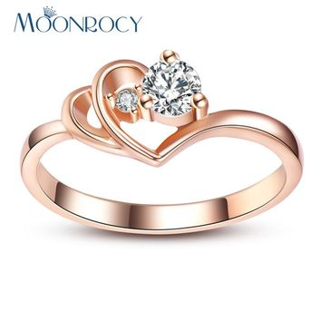 Cubic Zirconia Rose Gold Color Ring