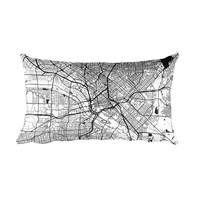 Dallas Map Throw Pillow