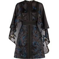 Elie Saab Cape Jacquard Dress
