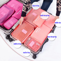 Dixiu Portable Multifunctional Travelling Luggage Bag Home Organizer 6pcs Set