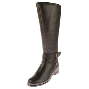 Rose Petals Womens Tristan Leather Knee-High Riding Boots