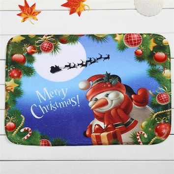 christmas doormat Mat Outdoor Indoor Antiskid Decor Doormat Carpets Rugs quality first Vovotrade