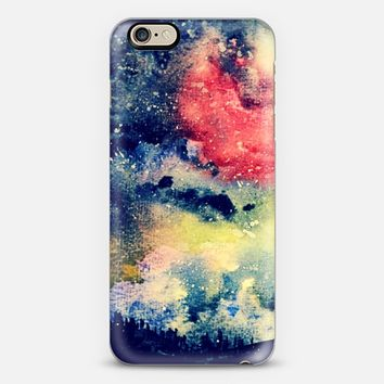 Starry Galaxy Sky Watercolor Painting Original Design iPhone 6 case by WhatAColor | Casetify