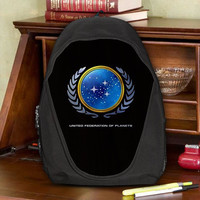 Star Trek United Federation of Planets Teen Kids Canvas School Backpack Bag Rucksack