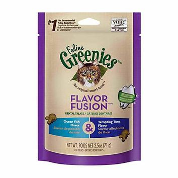 Feline Greenies Flavor Fusion Ocean Fish & Tuna Dental Cat Treats | Petco