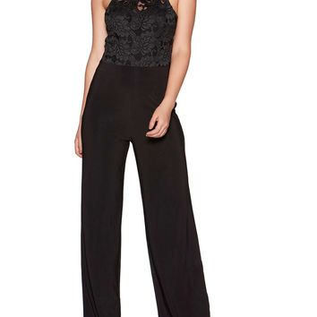 *Quiz Black Glitter Lace Jumpsuit | Dorothyperkins