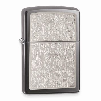 Zippo Oriental Abstract Black Ice Lighter - Engravable Personalized Gift Item