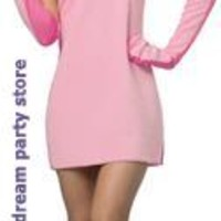 Women's Christmas Story Bunny Dress Adult Costume - Pink - One-Size