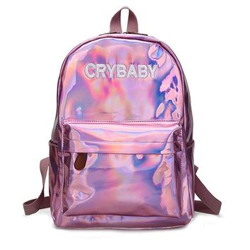 Women Soft  Leather Backpack School Bags For Girls
