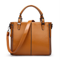 Hot Sale Leather Vintage Ladies One Shoulder Bags Ppurses Tote Bag [6581902087]