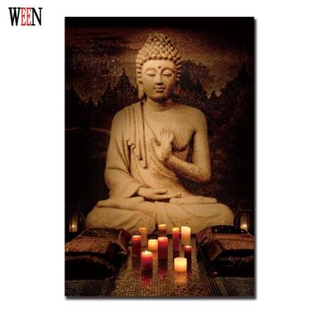 Buddha Joss Decorative Pictures Meditation Painting Canvas Art Posters And Prints Modern Modern Cuadros Decoracion Infantiles