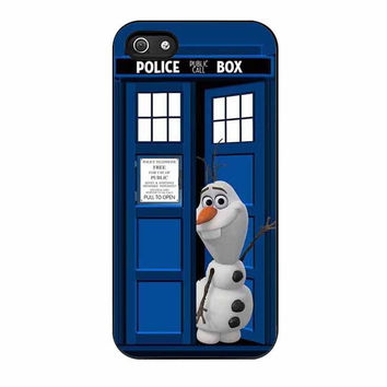 olaf in tardis dr who disney frozen cases for iphone se 5 5s 5c 4 4s 6 6s plus