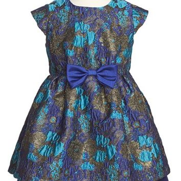 Girl's Pippa & Julie Jeweled Brocade Dress,