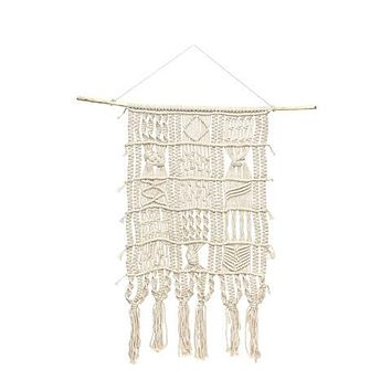 """SOUL OF THE PARTY 36"""" MACRAME WALL HANGING"""