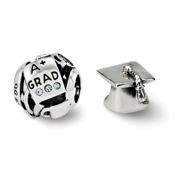 Sterling Silver Reflections Graduation Boxed Bead Set