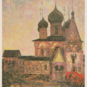 Churches and Cathedrals (Part II). Collection / Set of 31 Vintage Prints, Postcards - 1960s-1980s (Painters in description)