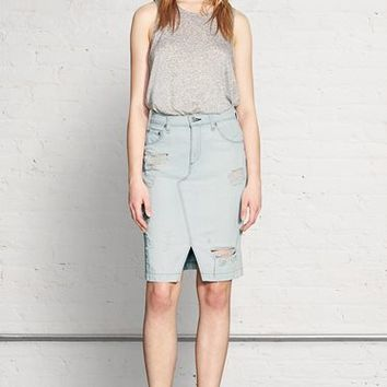 Rag & Bone - Denim Skirt, Shred Norte