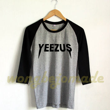 Yeezus Shirt Vine West Tee Inspired Jesus, Album Music Hip Hop Rap Rapper Baseball Raglan 3/4 Tee Shirts Tshirt Unisex Size