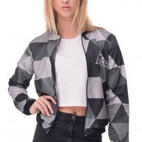 3D Printed Triangle Womens Bomber Jacket