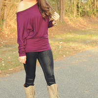 Fly Away Home Tunic: Dark Purple