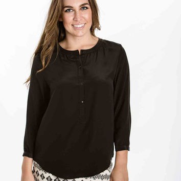 Kelly Silk Blouse (Black) by Amour Vert