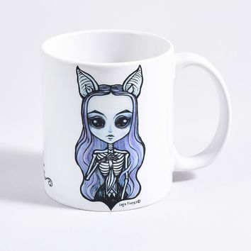 White She Bat Ceramic Mug