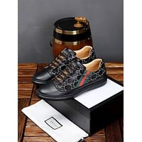Gucci Men's Leather Fashion Low Top Sneakers Shoes
