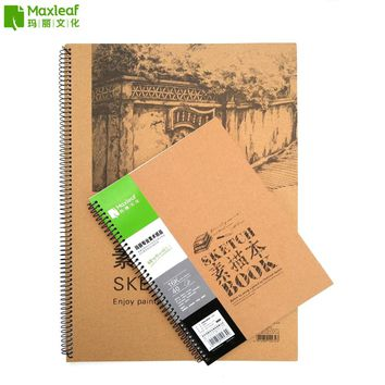 16K A4 A3 Vintage Drawing Pad Sketch Book Notebook Sketchbook for Painting Drawing Diary Journal Creative Notebook Gift