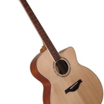 Wood Song JC-NA Jumbo Cutaway Solid Sitka Top Acoustic Guitar w/ Bag - Natural