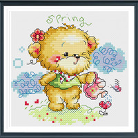Lovely Bear s143, Counted Cross Stitch Pattern, Instant Download
