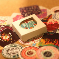 38 pcs/set Creative Vintage Themes Stickers Adhesive Stickers