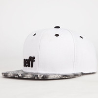 Neff Daily Serpent Mens Snapback Hat White One Size For Men 24102915001