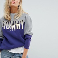 Tommy Jeans Colour Block Sweatshirt at asos.com