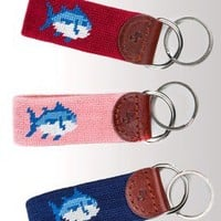 Skipjack Needlepoint Key Fob