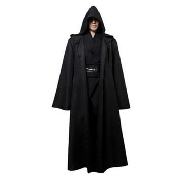 New Darth Vader Terry Jedi Black Robe Star Wars Jedi Knight Hoodie Cloak Halloween Cosplay Costume Cape For Adult JH821003