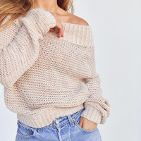 Kimchi Blue Kelli Off-The-Shoulder Sweater | Urban Outfitters