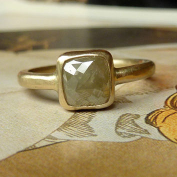 Cushion Shape Rose Cut Diamond Ring - Deposit