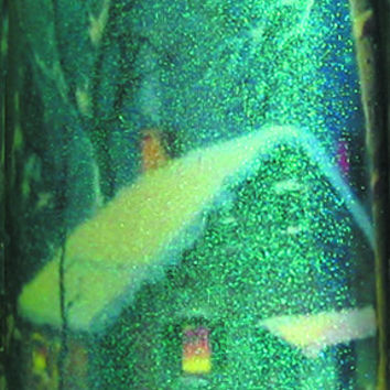 Frosty Glass Cabin Candle