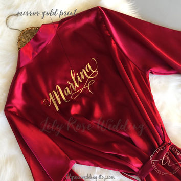 Bridesmaid Robes, Bride Robe, Bridesmaid Gift, Bridal Robes, Bridal Shower Gift, Personalized Robes, Maid of Honor, Mother of the Bride Gift