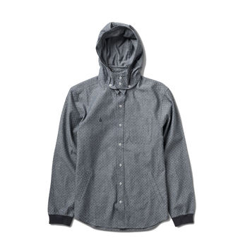 The Marquie Hooded Woven In Blue