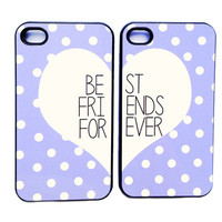 BEST FRIENDS lavender polka dot